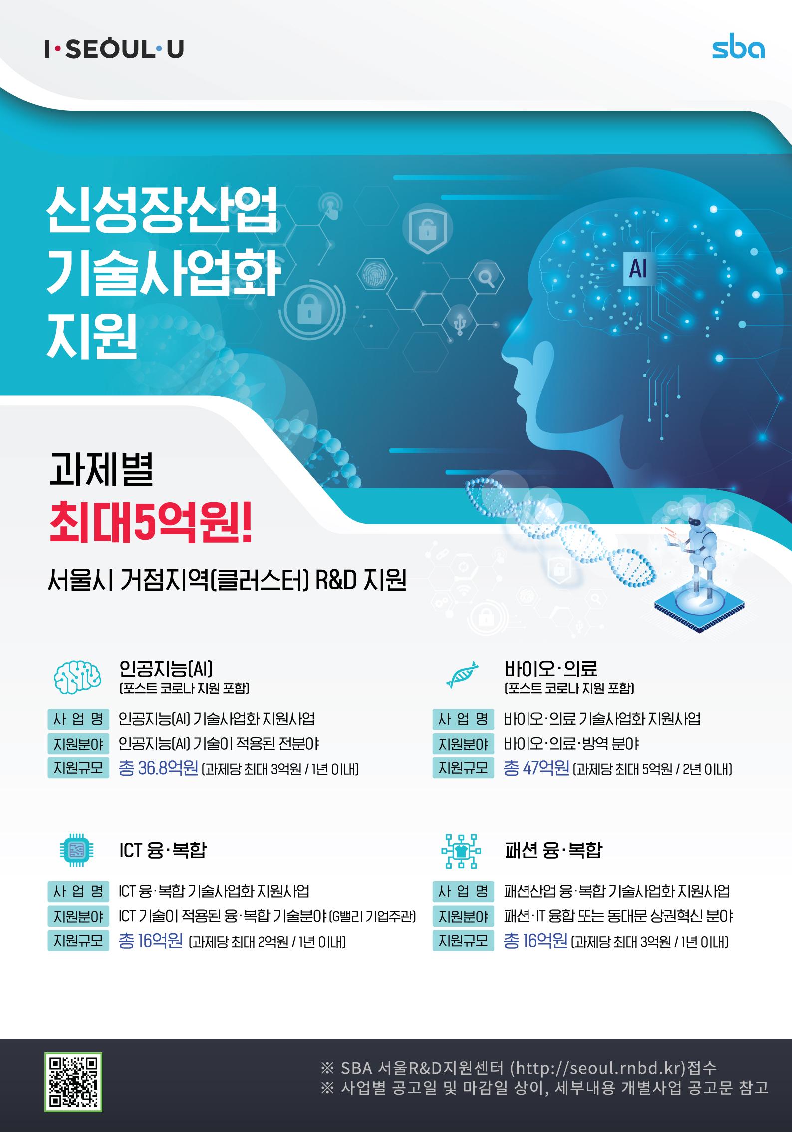 [포스터] SBA 신성장산업 기술사업화  지원사업(AI,바이오,G밸리,패션).jpg